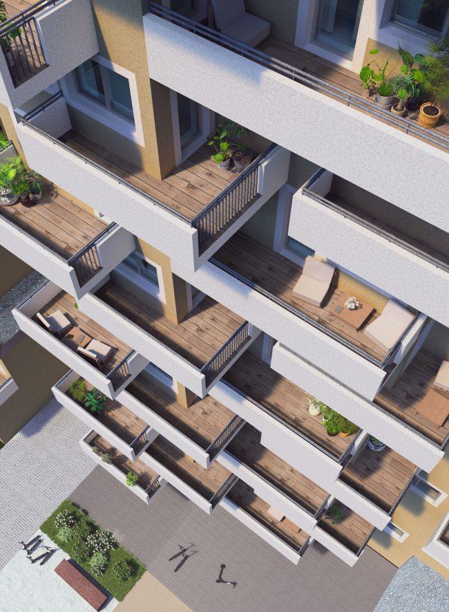 Wohnbau Berresgasse Balkone